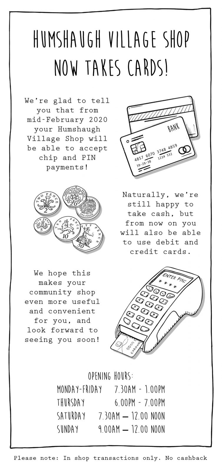 card payment leaflet