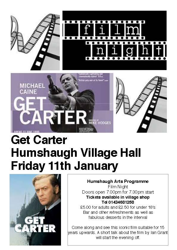Get Carter film night poster