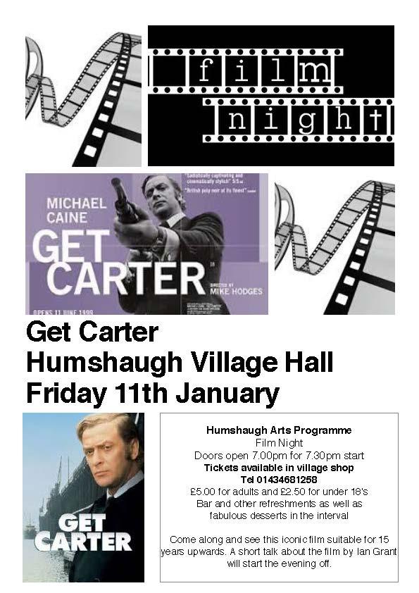 Get Carter film night poster
