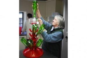10 Ann Pearson sterilising the bottles